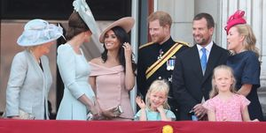 Meghan Markle andKate Middletonat Trooping of the Colour 2018