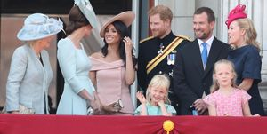 Meghan Markle and Kate Middleton at Trooping of the Colour 2018