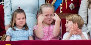 Savannah Phillips with Princess Charlotte and Prince George