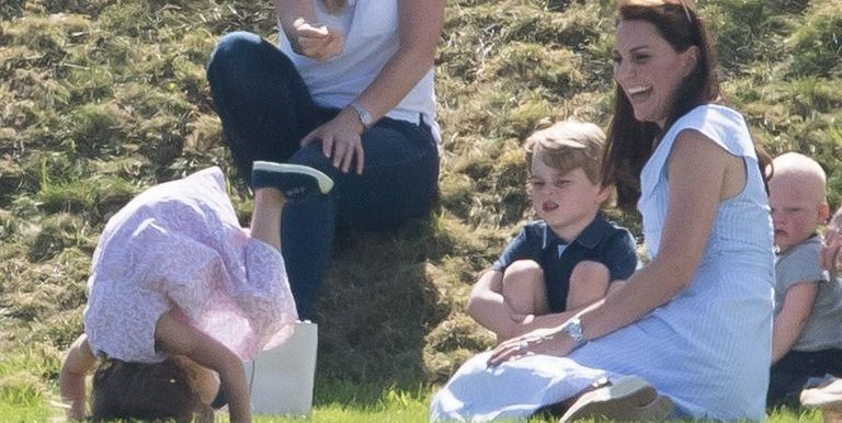 Prince George and Princess Charlotte Play with Kate Middleton