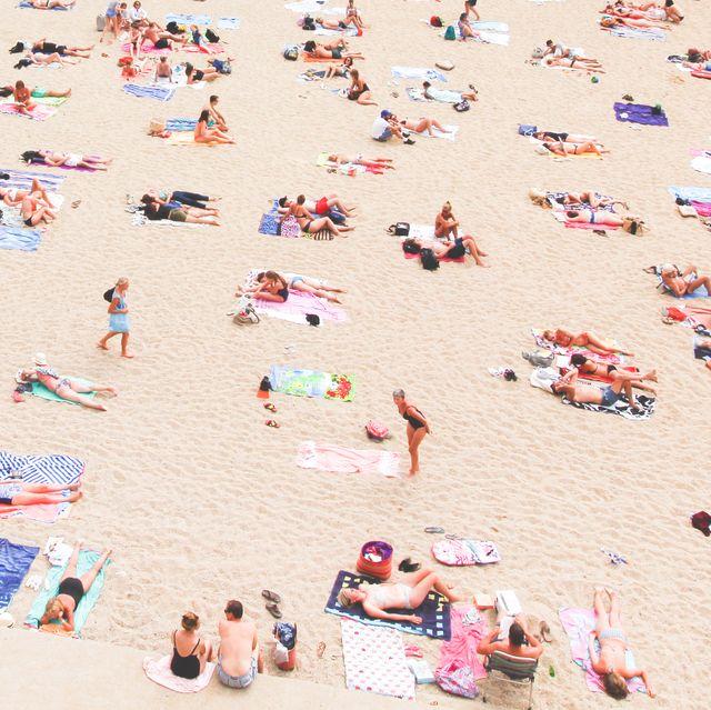 People on beach, Sun tanning, Sand, Beach, Vacation, Summer, Fun, Tourism, Spring break, Leisure,