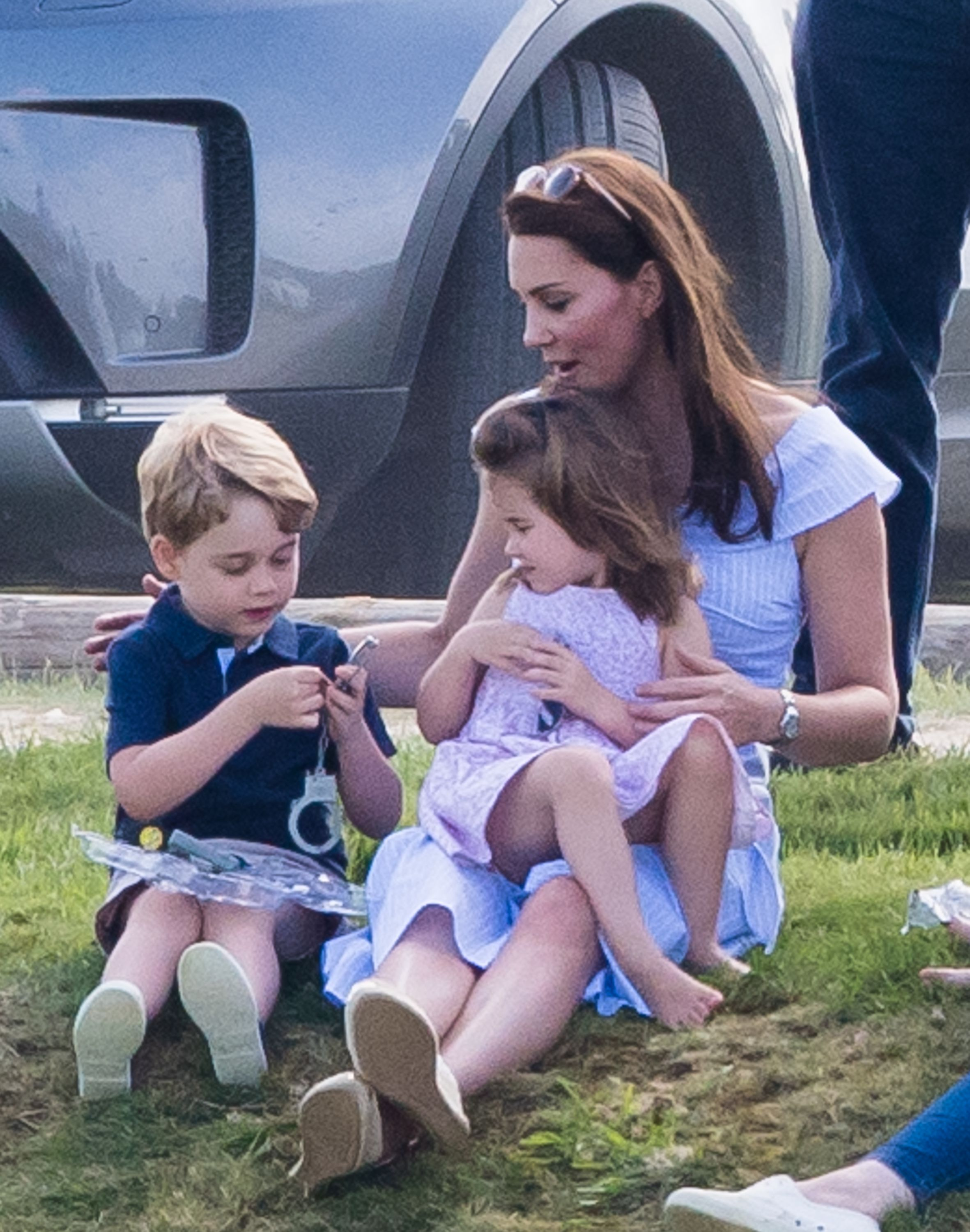 Kate Middleton, the Duchess of Cambridge, with her children, Prince George and Princess Charlotte.