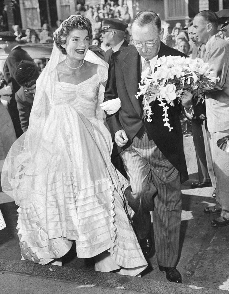 Wedding Photos Of Jackie Kennedy And John F Jacqueline Dress Pictures
