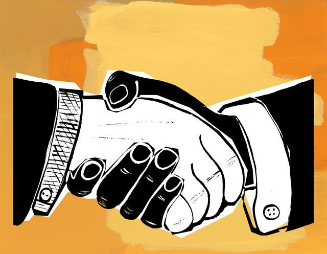 black and white hands in a handshake