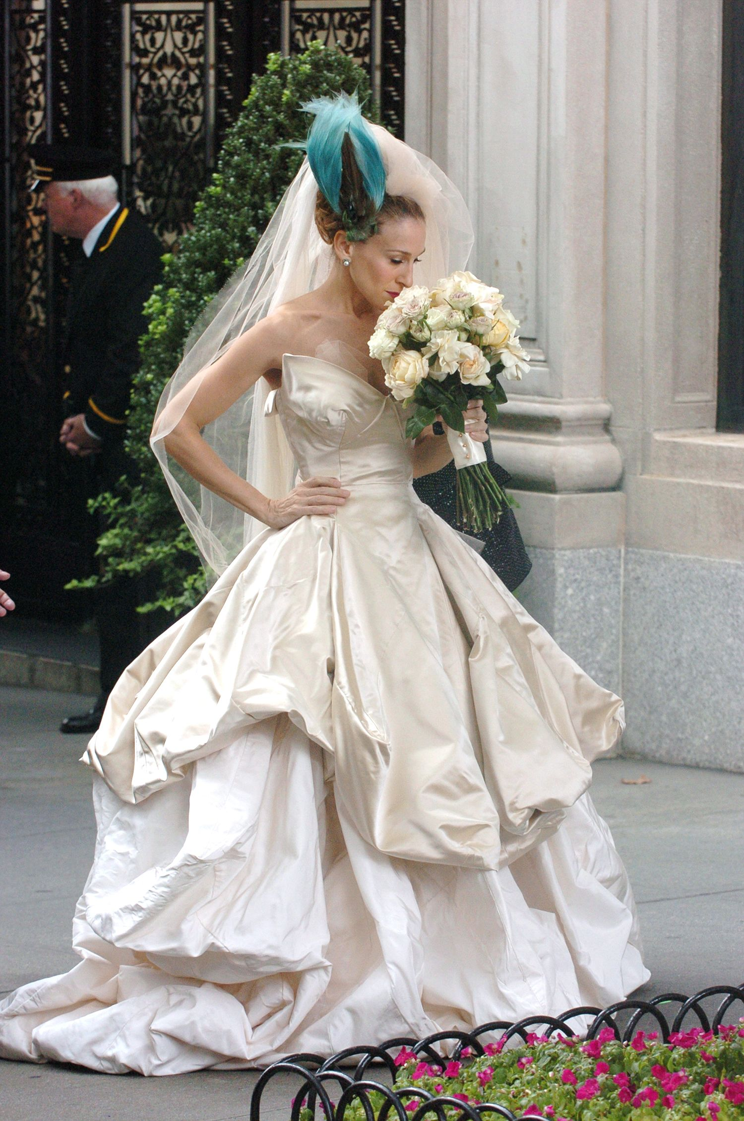 Wedding dress from sex and the city