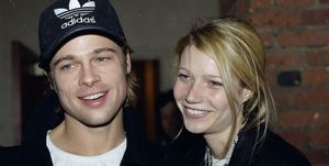 Brad Pitt and girlfriend Gwyneth Paltrow arrive at the Tribe