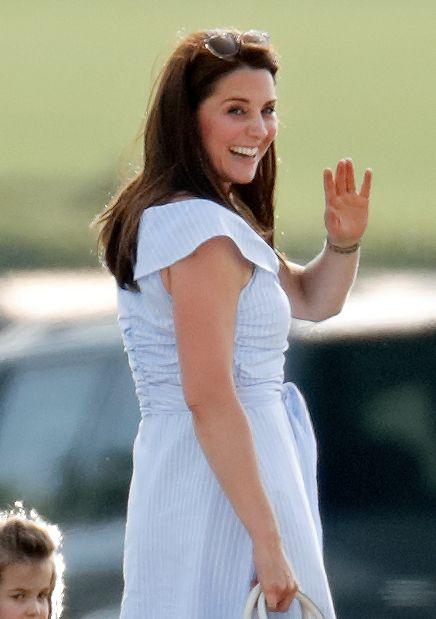 Kate Middleton Blue Zara Dress At The Maserati Royal