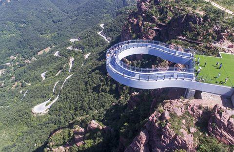 Aerial photography, Bird's-eye view, Landmark, Mountain pass, Infrastructure, Landscape, Mountain, Architecture, Stadium, Photography,