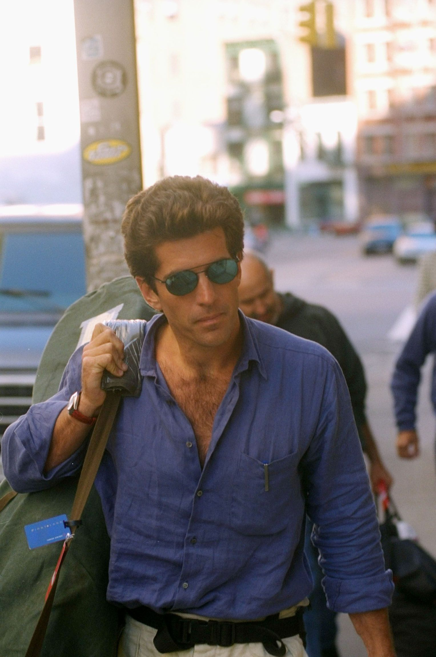 John F. Kennedy Jr. out in Tribeca, the New York City neighborhood where he lived with his wife Carolyn, in 1996.
