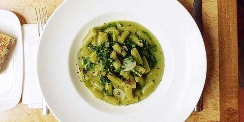Pasta with broccoli and garlic crumbs at Cibi Cibi restauran
