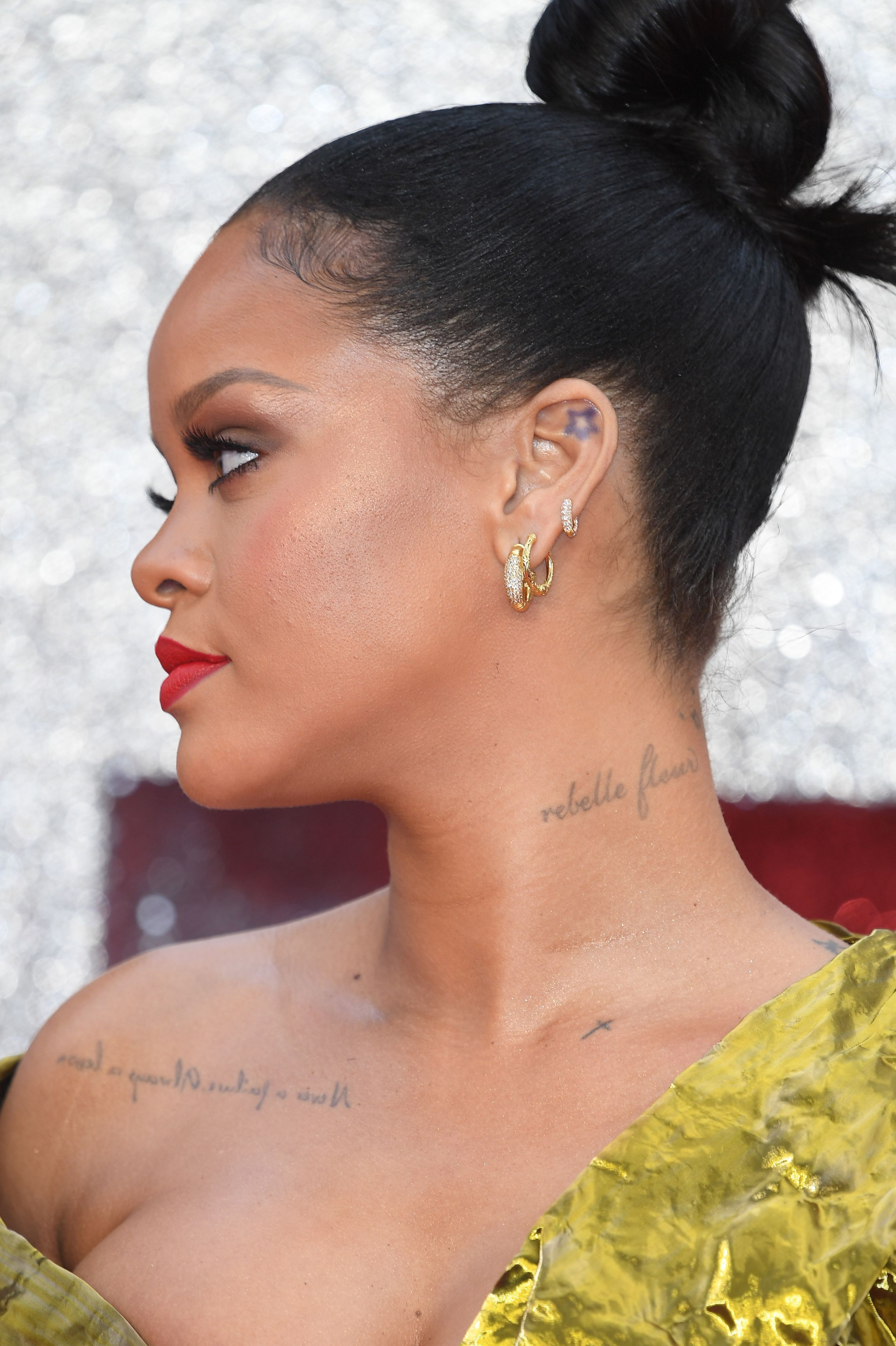 rihanna ear piercings