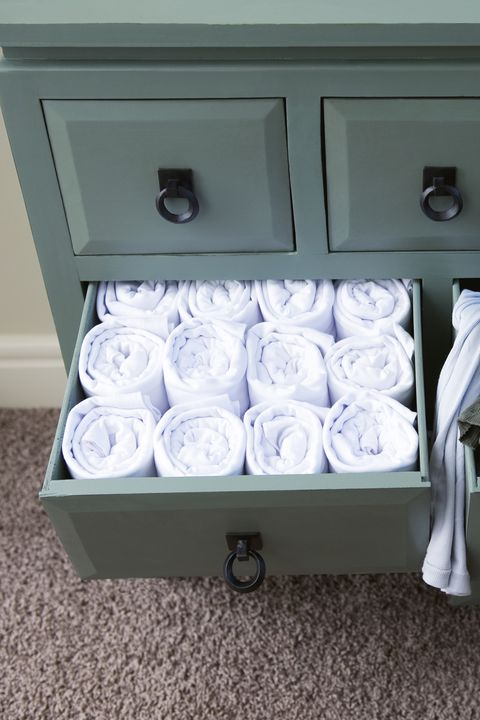 Two Contrasting Drawers of Clothes