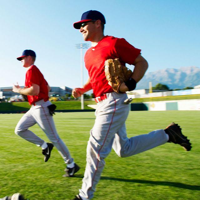 guys playing baseball