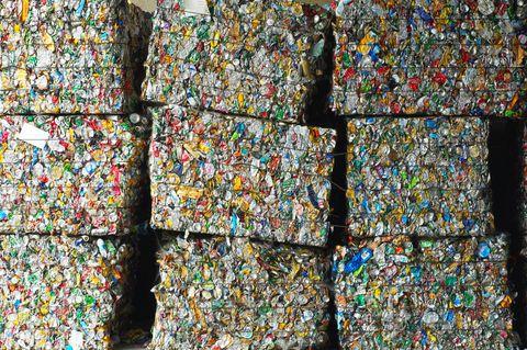 Waste segregation, Etampes, France