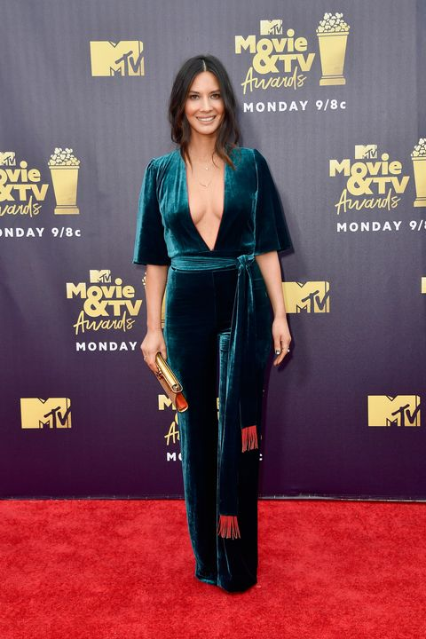 santa monica, ca   june 16  actor olivia munn attends the 2018 mtv movie and tv awards at barker hangar on june 16, 2018 in santa monica, california  photo by frazer harrisongetty images