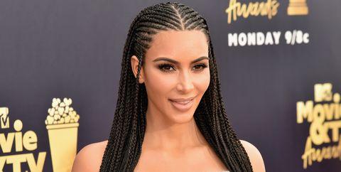 kim kardashian cornrows mtv movie & tv awards