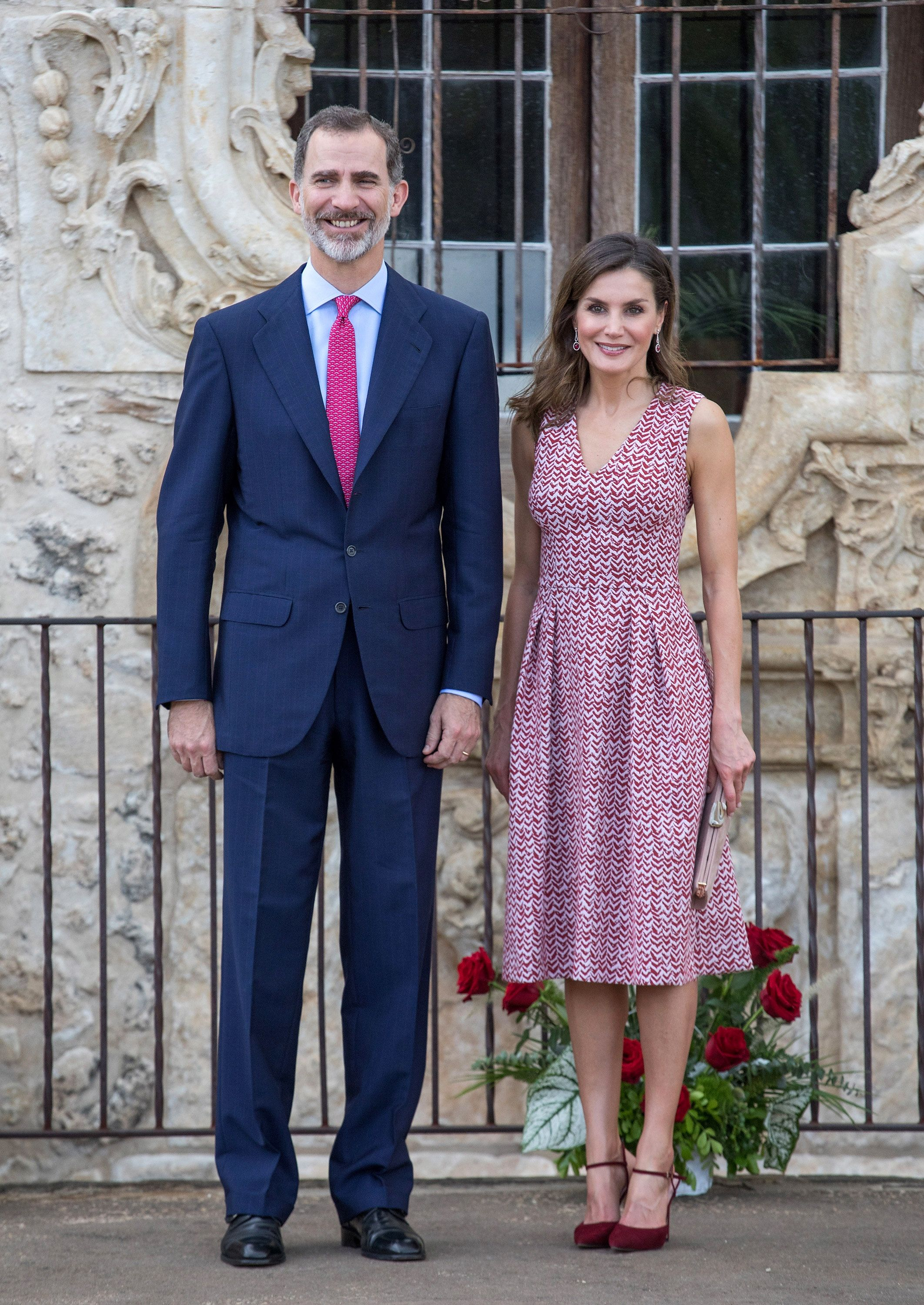 90fcbf2c King Felipe and Queen Letizia Visit San Antonio and New Orleans - King and  Queen of Spain Tour United States