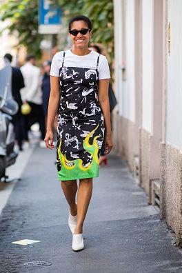Street fashion, Photograph, Clothing, White, Fashion, Yellow, Green, Snapshot, Street, Beauty,