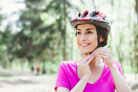 Bicycle helmet, Helmet, Bicycles--Equipment and supplies, Bicycle clothing, Personal protective equipment, Pink, Cycling, Skin, Beauty, Vehicle,