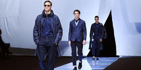 Fashion, Runway, Fashion show, Fashion design, Fashion model, Outerwear, Human, Denim, Event, Winter,