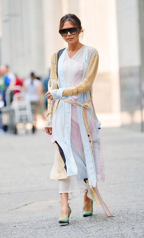 Victoria Beckham Pink Dress New York City