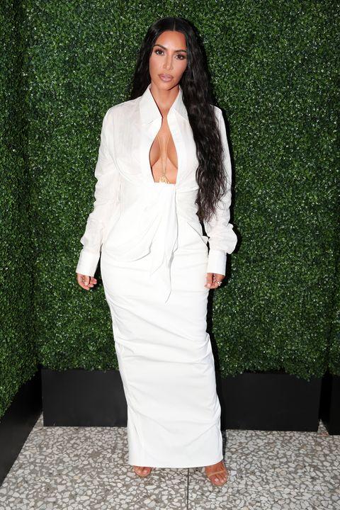 26fc1cdb650 Kim Kardashian Made a Wrinkly White Shirt Dress Look SO Sexy – Kim K ...