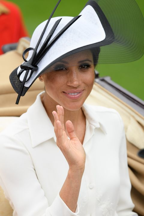 ascot, england   june 19  meghan, duchess of sussex attends day one of royal ascot at ascot racecourse on june 19, 2018 in ascot, united kingdom royal ascot is britains most valuable race meeting, attracting many of the worlds finest racehorses to compete for more than £73m in prize money  photo by leon nealgetty images