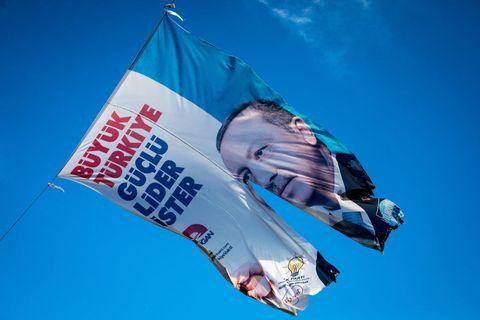 Flag, Sky, Advertising, Cloud, Banner, Wind,