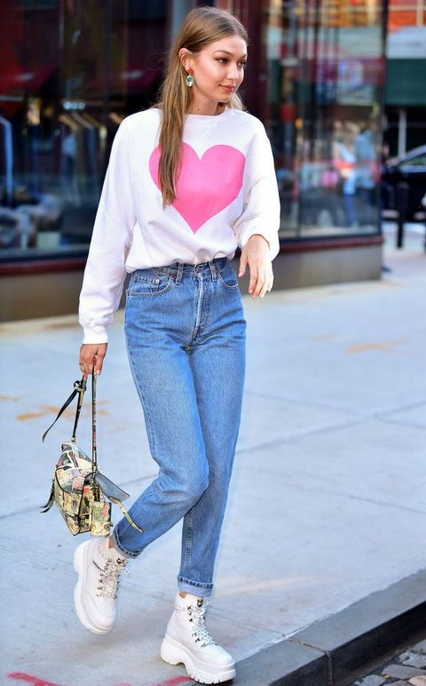 Jeans, Clothing, Street fashion, Denim, Waist, Fashion, Snapshot, Footwear, Textile, Trousers,