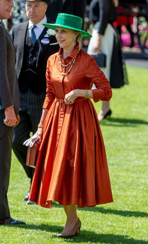 ascot, england   june 21  birgitte, duchess of gloucester attends royal ascot day 3 at ascot racecourse on june 21, 2018 in ascot, united kingdom photo by mark cuthbertuk press via getty images