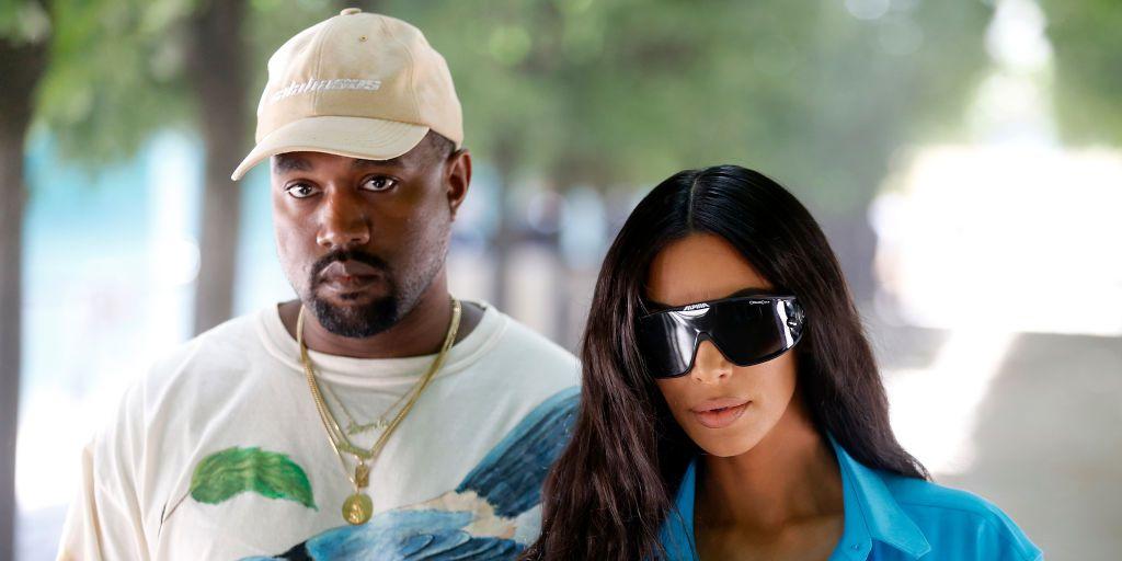 Kanye West, KimKardashian, glow in the dark Yeezy's