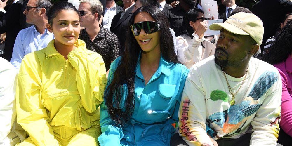 Kanye West Kim Kardashian Louis Vuitton menswear show milaan