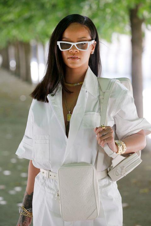 White, Clothing, White coat, Eyewear, Glasses, Street fashion, Outerwear, Blazer, Uniform, Top,