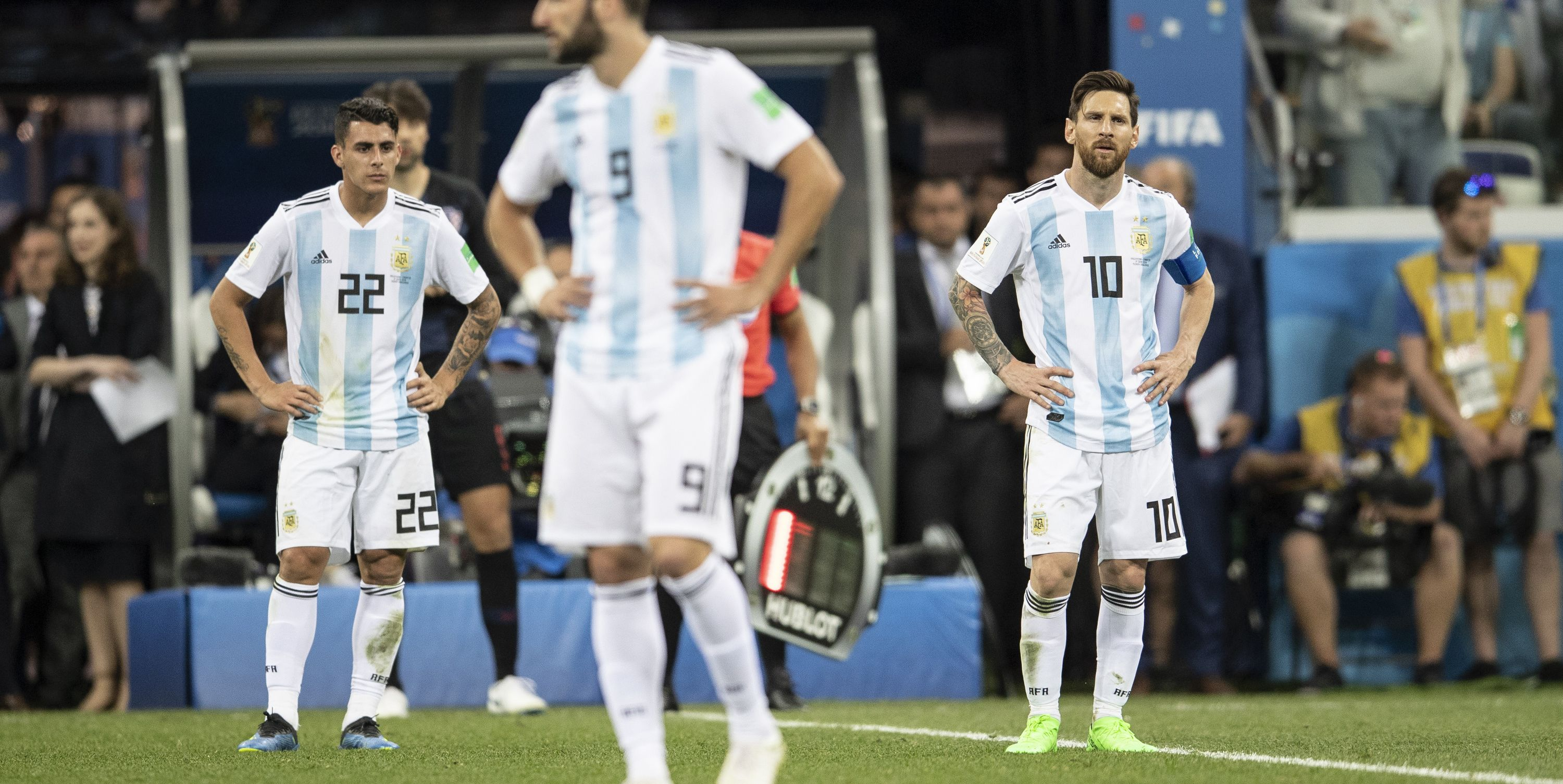 Lionel Messi Gonzalo Higuain Argentina World Cup