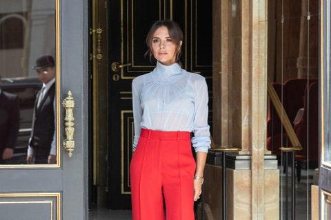 Clothing, Red, Fashion, Shirt, Waist, Dress shirt, Formal wear, Suit, Haute couture, Collar,