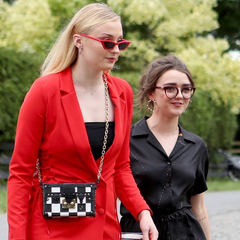 June 23, 2018 They're even each other's wedding dates! In this case, they were headed to GoT costars Kit Harington and Rose Leslie's wedding—in fabulous glasses, no less—so it was a reunion of costars and friends.