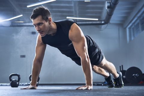 Press up, Physical fitness, Weights, Fitness professional, Arm, Exercise equipment, Shoulder, Muscle, Chest, Chin,