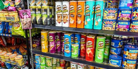 Supermarket, Convenience store, Convenience food, Grocery store, Product, Canning, Snack, Retail, Junk food, Food storage,