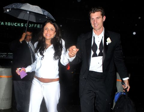 new york   march 28  bethenny frankel and jason poppy arrive at their hotel after their wedding at four seasons restaurant on march 28, 2010 in new york, new york  photo by james devaneywireimage
