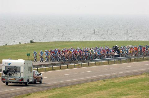 Bicycling Afsluitdijk Afsluitrit