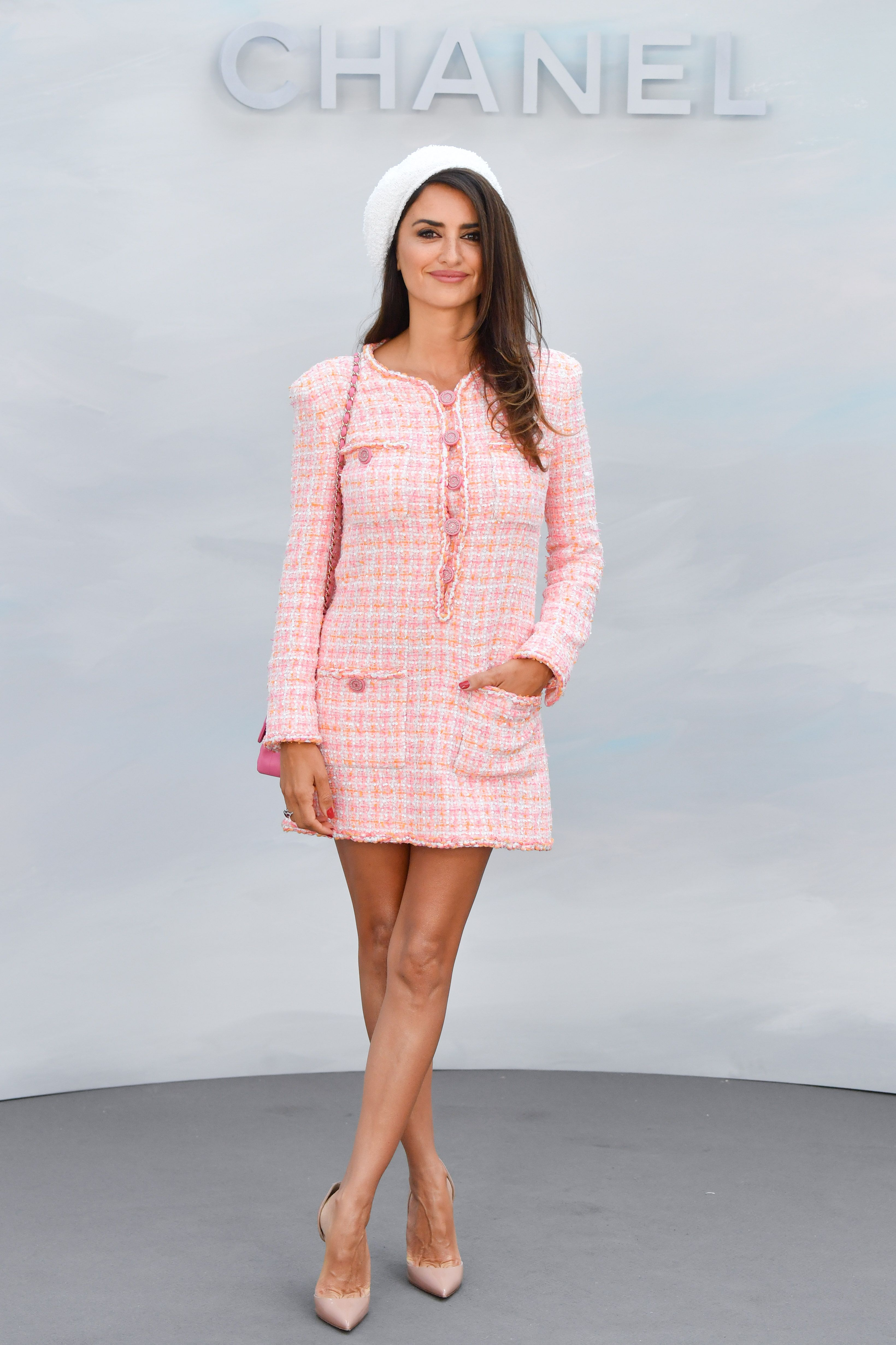 Penélope Cruz tweed