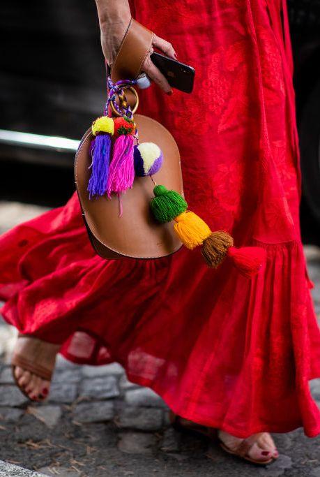 Red, Pink, Magenta, Street fashion, Dress, Performance art, Street, Child, Costume, Dance,