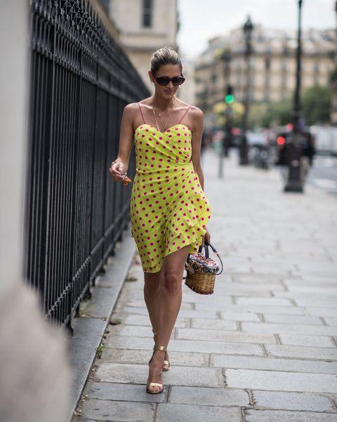 White, Street fashion, Photograph, Clothing, Yellow, Fashion, Shoulder, Dress, Beauty, Snapshot,