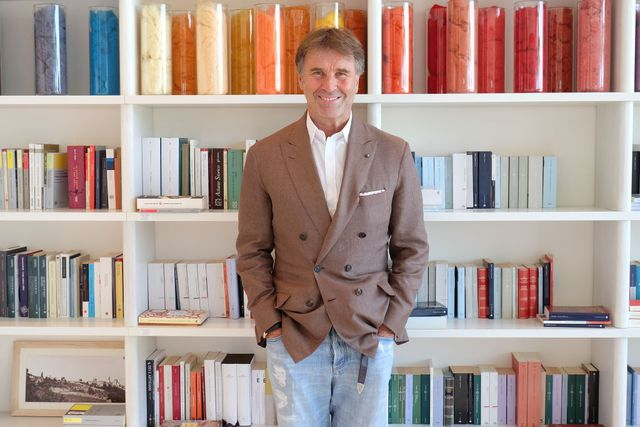 the italian entrepreneur brunello cucinelli stands in his office in solomeo, italy, 30 august 2017 photo alvise armellinidpa photo by alvise armellinipicture alliance via getty images