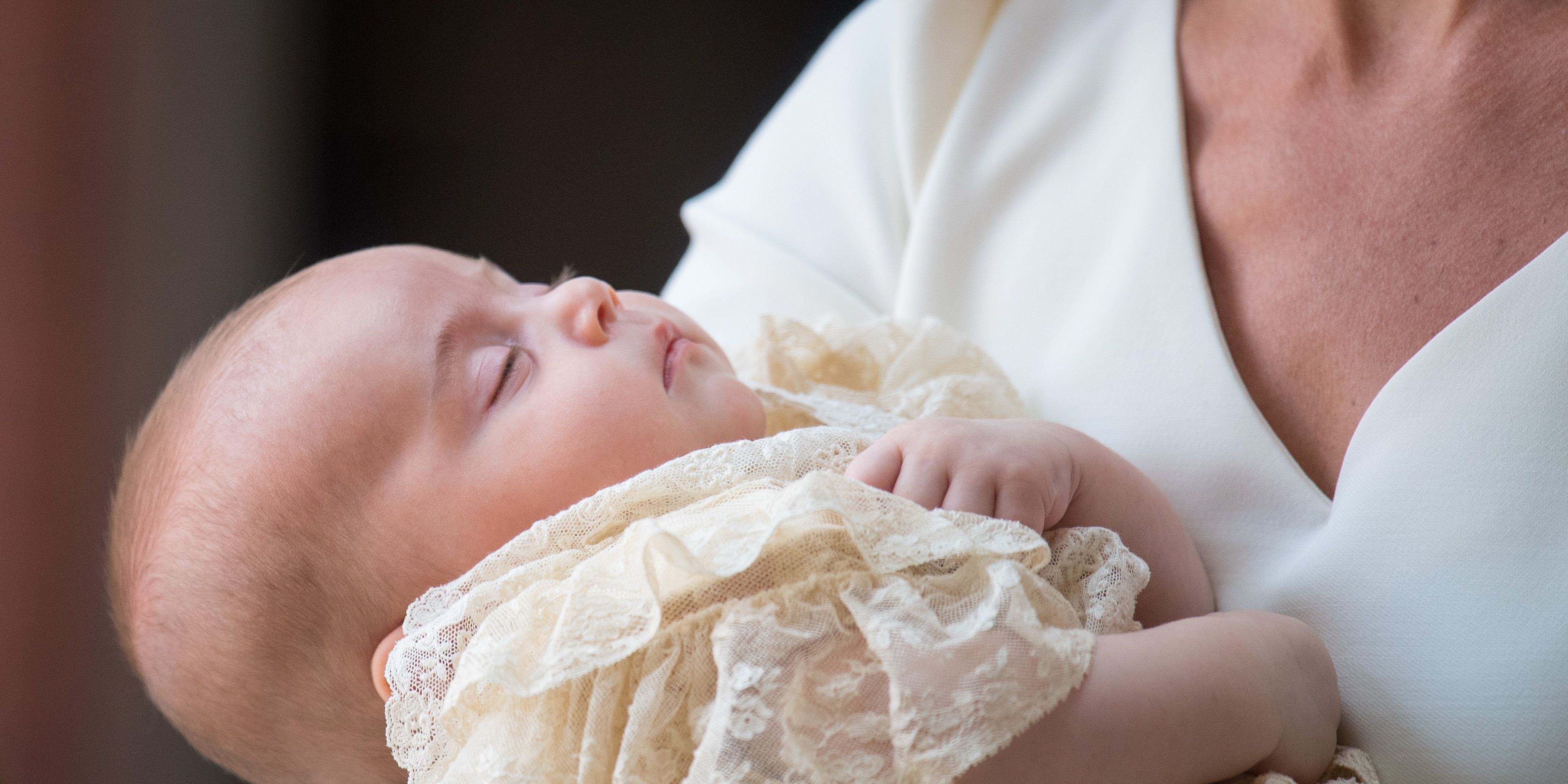 Prince Louis turned up fast asleep to his christening