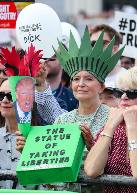 londoners protest Trumps UK visit