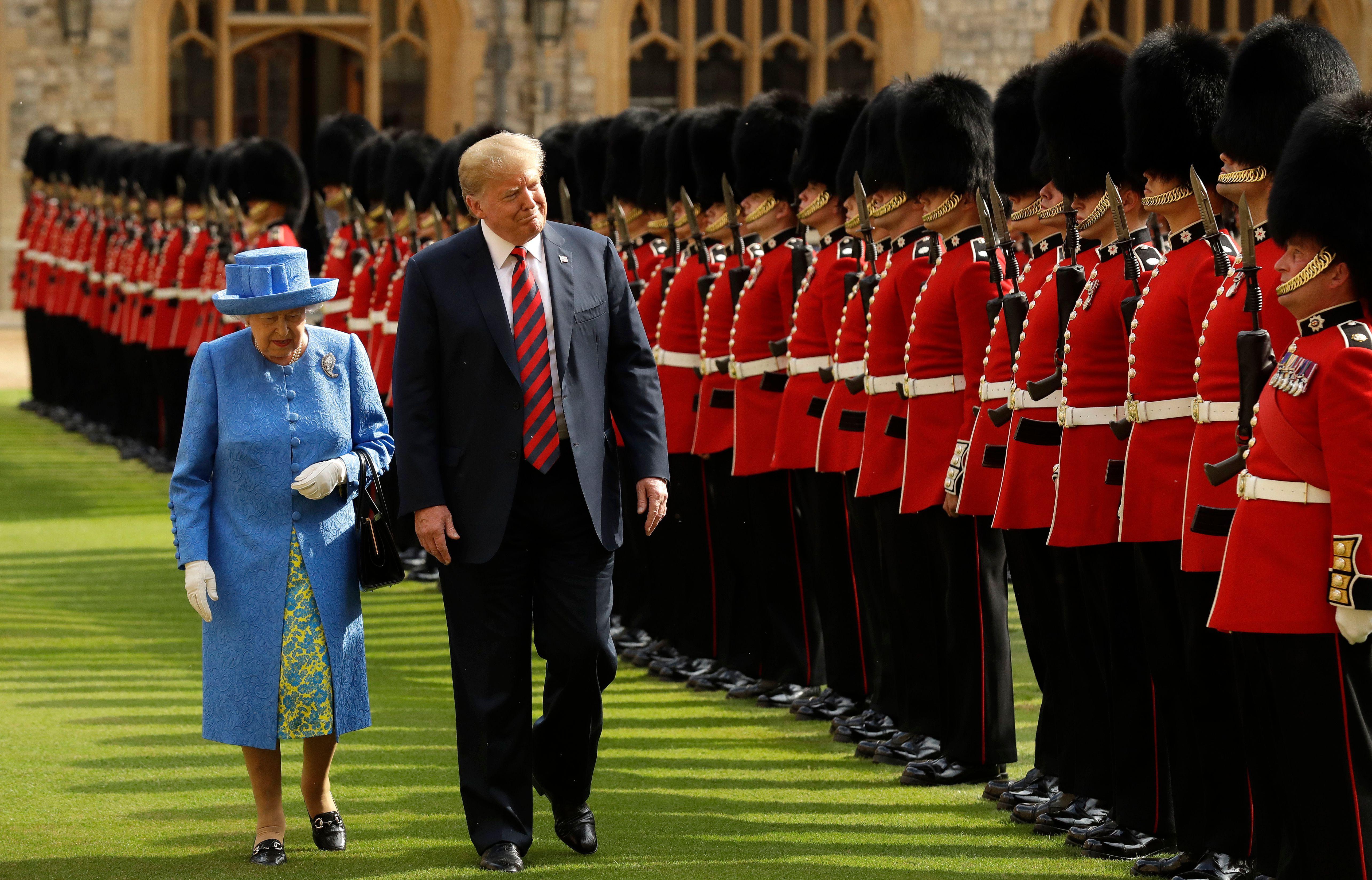 donald trump queen elizabeth