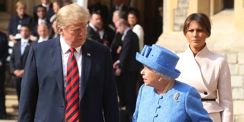 Queen Elizabeth Donald Trump Melania Trump