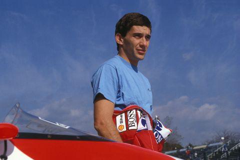 Ayrton Senna lors du Grand prix du Japon