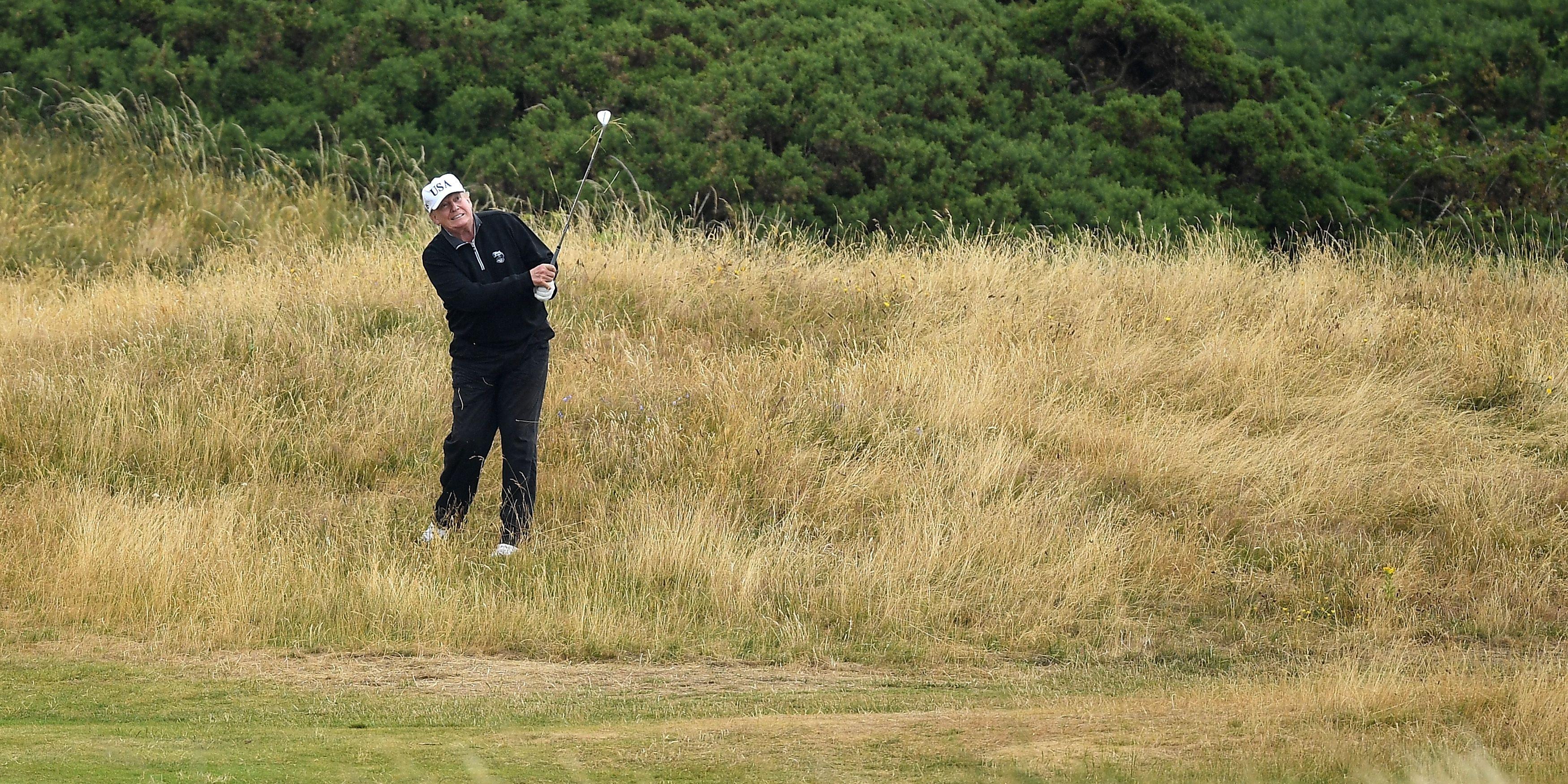Donald Trump news latest golf